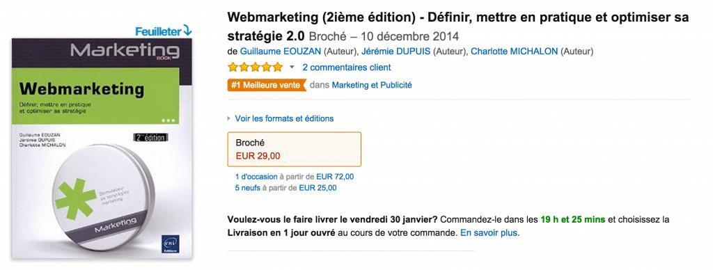 livre Webmarketing Guillaume Eouzan