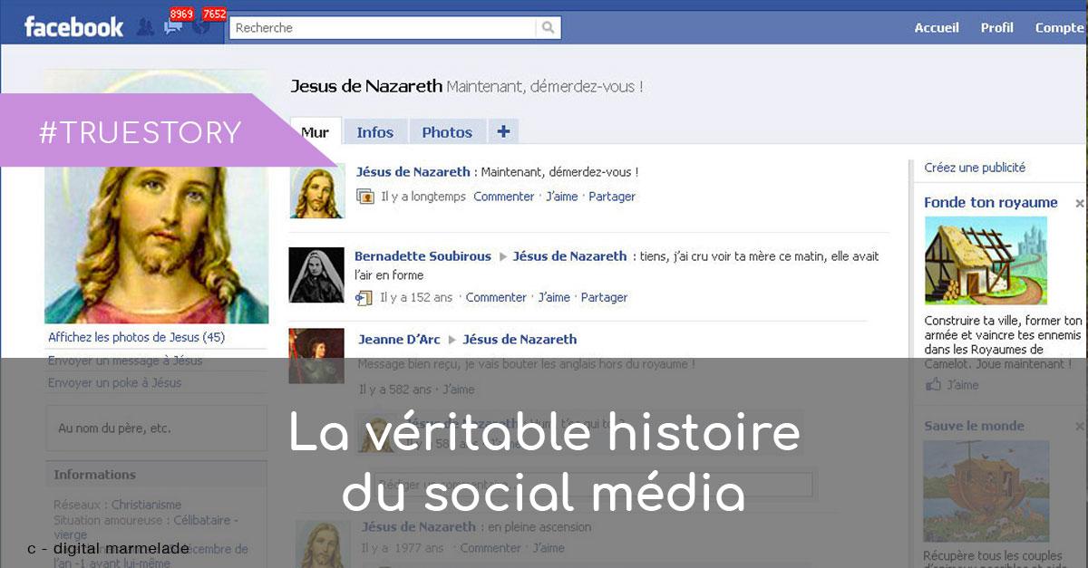 histoire du social media