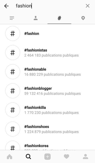 concurrence entre les hashtags