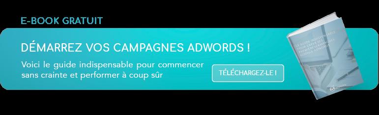 Téléchargez notre ebook gratuit et démarrez sur Adwords !