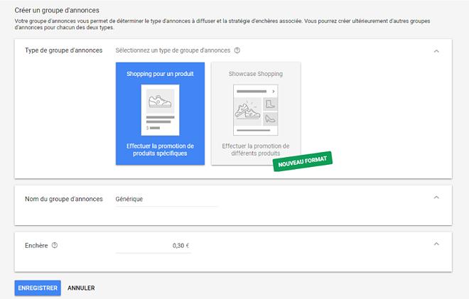 Comment créer un groupe d'annonce pour sa campagne Google Shopping ?