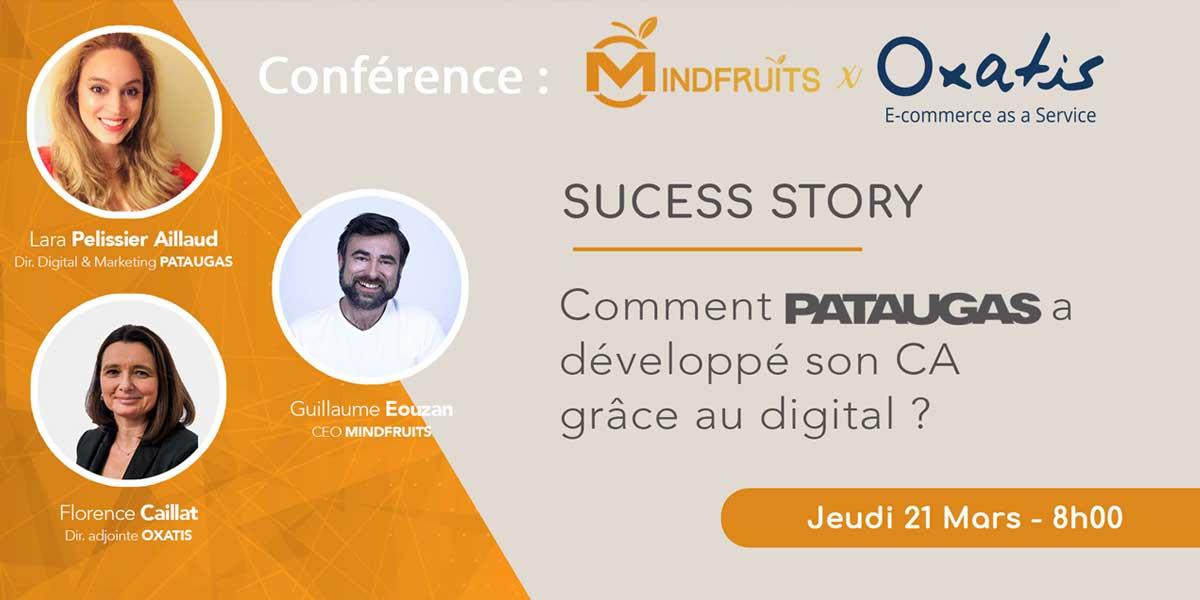 annonce Conférence Pataugas avec Guillaume Eouzan chez Oxatis