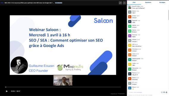 Webconference Saloon - Mindfruits