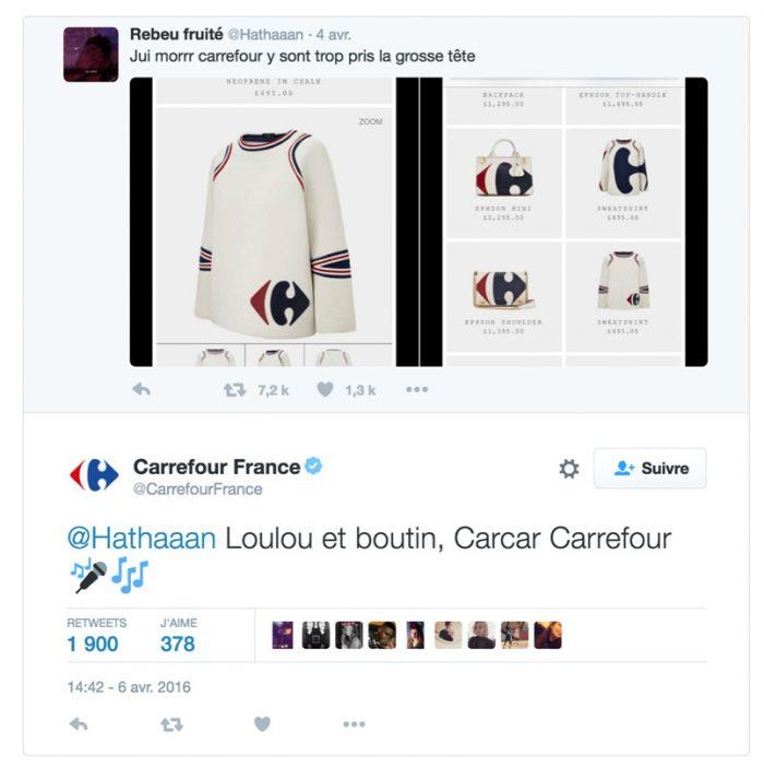 Carrefour e-réputation social média
